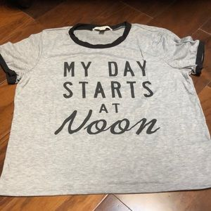"""My day starts at Noon""  t-shirt by Miami"